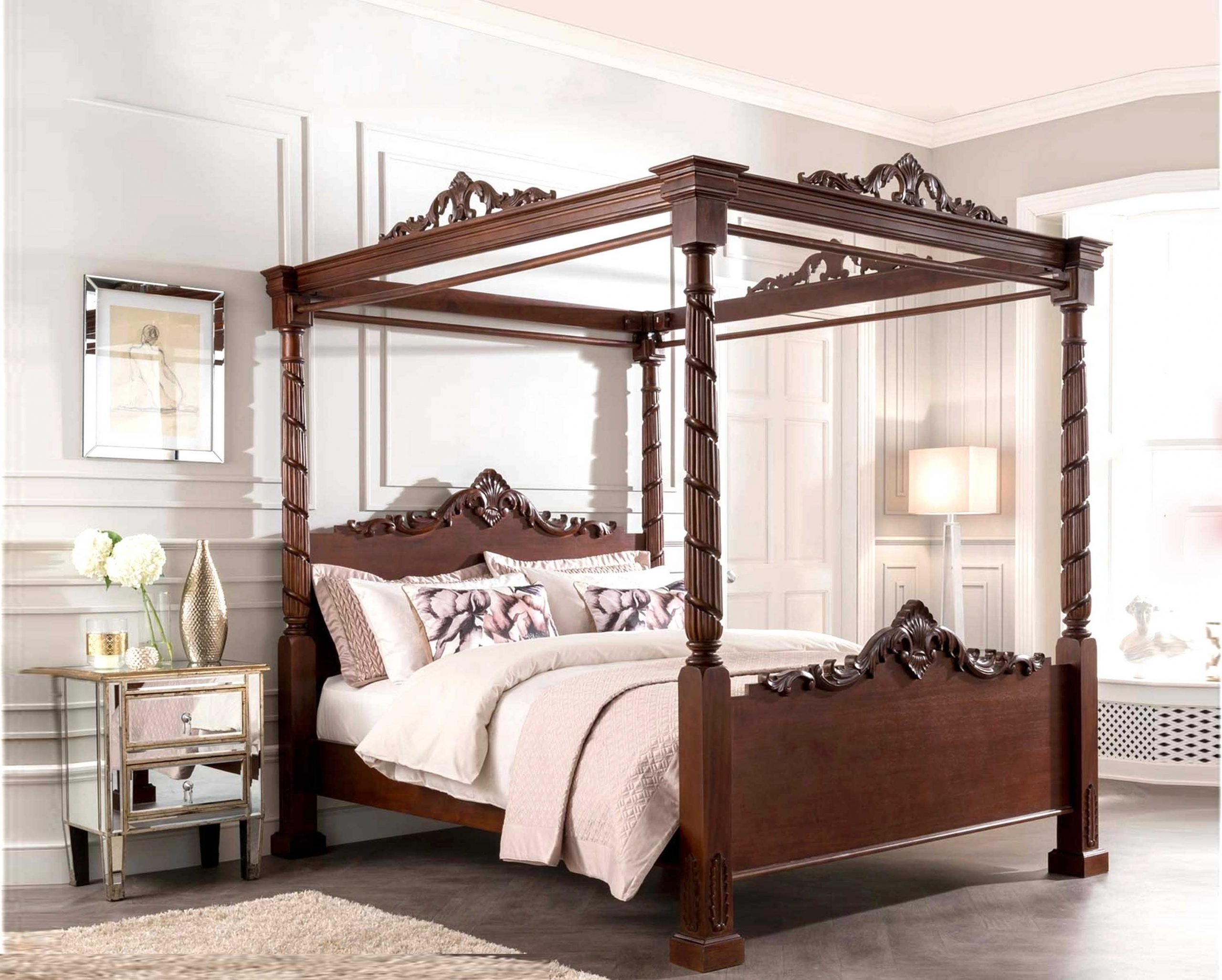 French-Design-queen-canopy-bed